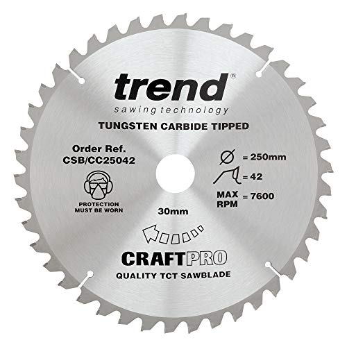 Trend Craft Pro saw blade - 250mm diameter 30mm bore 42tooth TCT
