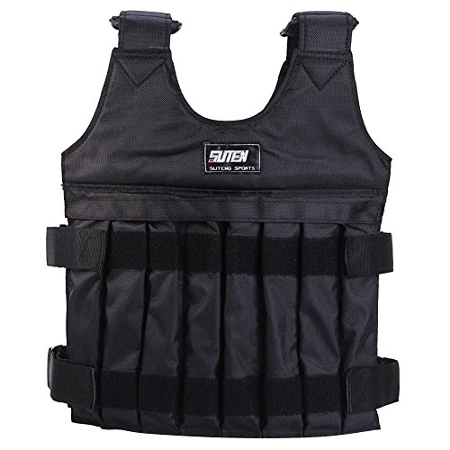 Handfly 10-20KG Black Adjustable Weighted Vest Workout Exercise Boxing Training Fitness, Empty