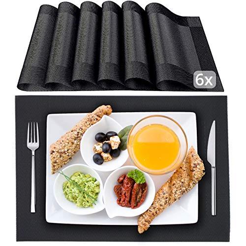 STANA - Platzset - 6er Tischset - Platzdeckchen | Tischsets abwaschbar | Hochwertige Tischunterlage | rutschfeste Tischsets abwaschbar | Deutsche Qualitätsmarke | Kunststoff Tischset