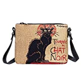 Signare Tapestry Borse da donna ispirate a Theophile Steinlen, Le Chat Noir, (Le Chat Noir), Taglia unica