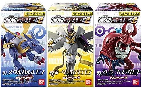 Digimon Shodo Box 2 Full Set 2 Inch Figurine Metal Garurumon Magna Angemon Mega Kabuterimon