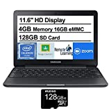 Samsung Chromebook 3 11.6 Inch Non-Touch Laptop, Intel Celeron N3060 up to 2.48 GHz, 4GB LPDDR3 RAM, 16GB eMMC, WiFi, Bluetooth, Chrome OS + NexiGo 32GB MicroSD Card (Renewed)