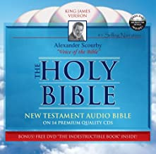 Audio Bible King James New Testament on CD by Scourby PLUS FREE DVD by Alexander Scourby (2008-07-24)