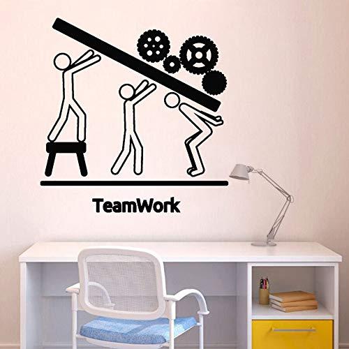 yaonuli Moderne Wand Vinyl Aufkleber Team Business Arbeit Teamwork Büro Innendekoration Aufkleber Motivation Abnehmbare Art Sticker75x77cm