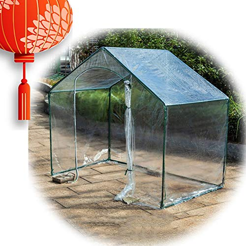 Greenhouses Walk-In Vents PE Cover Outdoor Courtyard Large Capacity Easy To Install Garden Igloo, 2 Colors Gzhenh (Color : Clear, Size : 180x100x150cm)