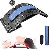 JADE KIT Back Stretcher, Multi-Nivel Dispositivo de Alivio del Dolor Lumbar, Masajeador de Espalda para Hernia de Disco, Ciática, Escoliosis, Soporte de Camilla Lumbar y Superior