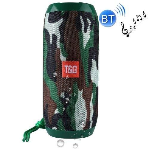 M2-Tec Spritzwasserfeste Soundbox Musikbox Handybox Radio Tragbarer Bluetooth Lautsprecher, inkl. Freisprecheinrichtung (Camouflage)