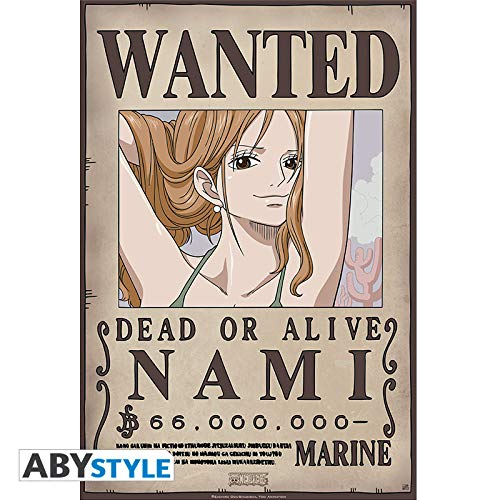 One PiECE - Póster Wanted Nami New (52x38)