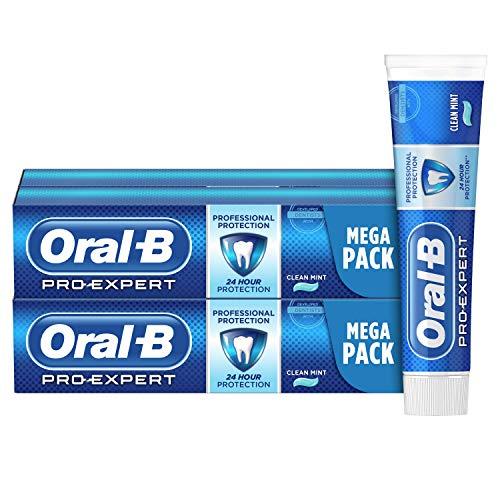 Oral-B Pro-Expert Protección Profesional Pasta de Dientes, Pack de 4, enviado en un cartón reciclado, Limpieza Bucal Completa (4x125 ml)