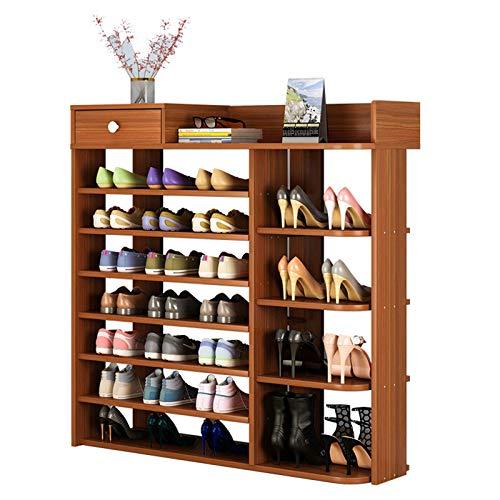 XIALIUXIA Zapatero De Madera, Organizador De Almacenamiento De Zapatos Multiuso, Simple Espacio Familiar Imitación Gabinete De Madera Maciza Dormitorio Puerta Zapatos Pequeños Estante,C