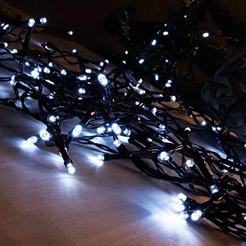 Sia Genérico - Luces de navidad blancas (48 led)