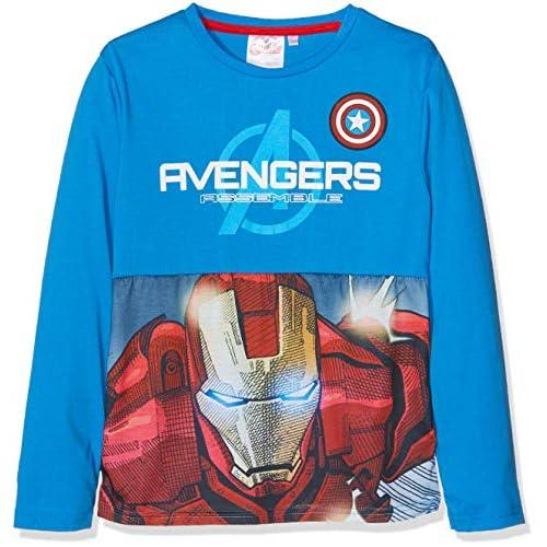 Marvel Avengers Classic T-Shirt, Blue (Blue 18-4252tc), 8 Anni Bambino