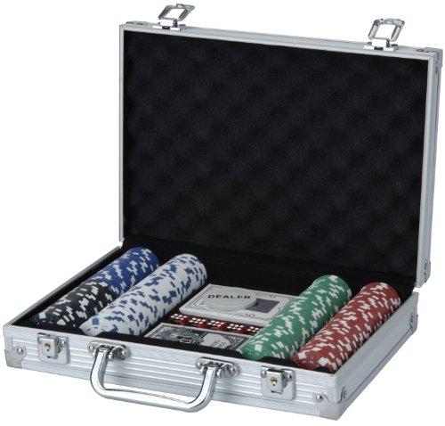 XQ Max, Set Poker con Valigetta, Nero (Schwarz/Silber/Rot/Weiß)
