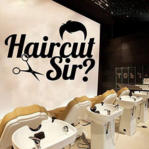 Tianpengyuanshuai Barber Shop Haircut Wasserdichtes Wandtattoo 30X44cm