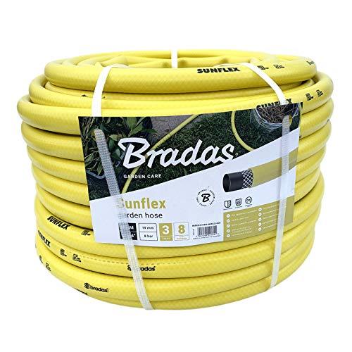Bradas WMS3/450 Gartenschlauch 50 m 3/4 Zoll Sunflex, gelb, 30 x 30 x 20 cm