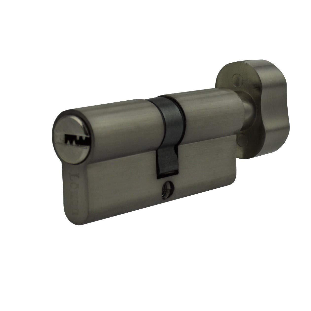 1 x Cerradura de cilindro 60 mm con cerradura (plano KS y 5 Reversible Llave (30 x 30): Amazon.es: Bricolaje y herramientas