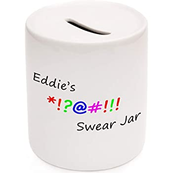 Swear Jar Money Box Gift Idea Dad Son Cursing Naughty Uncle Savings Great 45 Amazon Co Uk Kitchen Home