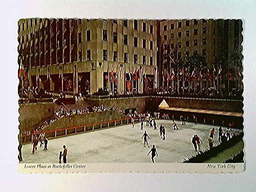New York City, Lower Plaza at Rockefeller Center, Eislauf, USA, AK, ungelaufen, ca. 1979