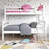 Dorel Living Brady Twin Over Full Solid Wood Kid's Bunk Bed with...