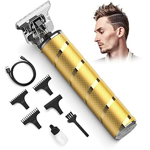 Xpreen Easy Trimmer Rasierer Herren Elektrisch konturen Haarschneidemaschine Profi Capellix Rasierer Pro T Blade Outliner Gritsy Trimmer Haarschneider mit T-Klinge Wasserdichter Für Männer (Gold)