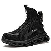 [マンディー] 安全靴 ハイカット あんぜん靴 作業靴 レディース メンズ 安全 ブーツ スニーカー おしゃれ 鋼先芯入れ 軽量 耐滑 安全長靴 通気性 黒 セーフティーシューズ 850/ブラック/37