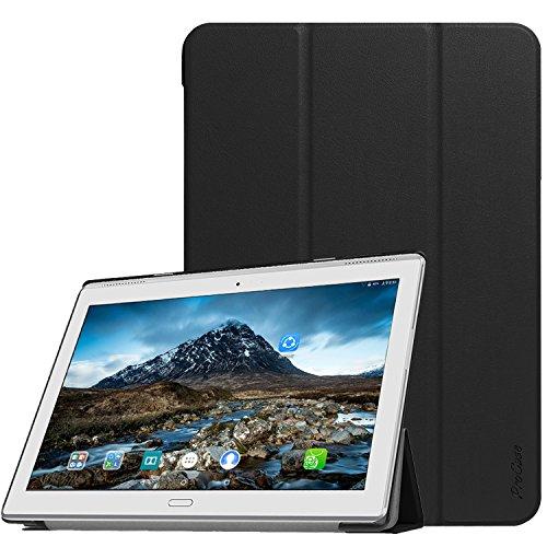 ProHülle Hülle für Lenovo Tab 4 10 Plus (TB-X704F) 2017, Slim Stand Hartschalenkoffer Smart Cover mit Auto Sleep/Wake -Schwarz