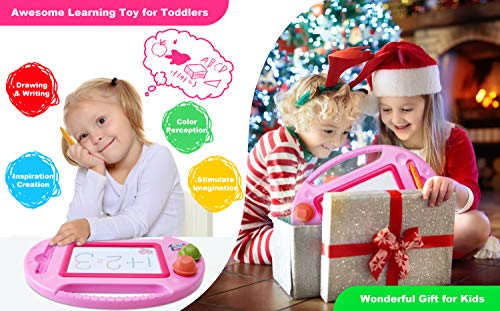 Toys for 1-2 Year Old Girls,Magnetic Drawing Board,Toddler Toys for Girls Age 2 3,Magna Erasable Doodle Board for Kids,Learning Toys for Toddler 2-3,Toy Gifts for 2 3 Year old Girls Boys Birthday
