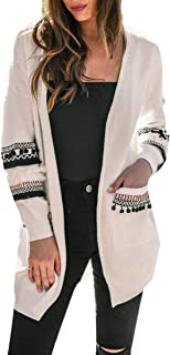 Womens Fashion Cardigan Sweaters Cozy Open Front Long Sleeve Knit Coat