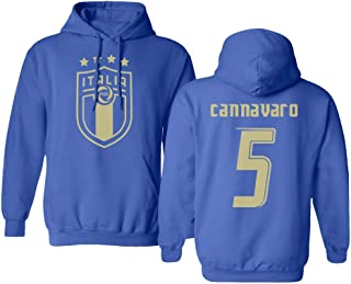 Tcamp Soccer Legends #5 Fabio CANNAVARO Jersey Style Men's Hooded Sweatshirt