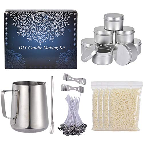 DIY Candle Making Kit Candles Craft Tools Candle Wicks Stickers For Beginners Christmas Candle Making Kit Soy Bean Wax Candle Making Kit,Sojabohnenwachs Kerzenherstellung Kit Candle Dochte Aufkleber