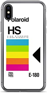 iPhone X/XS Pure Clear Case Cases Cover Retro VHS Tape Vaporwave Aesthetic Rainbow