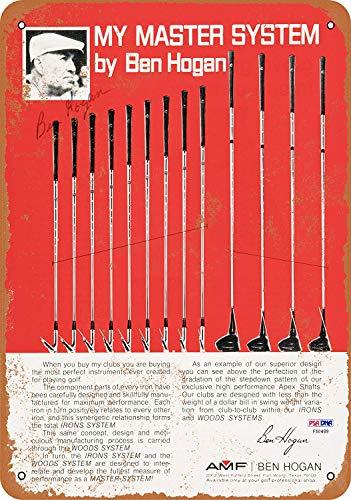 Kilburn AMF Ben Hogan Master System Golfschläger Retro kreative Wanddekoration Persönlichkeit Trend Hintergrund Einfache Stil Eisen Gemälde