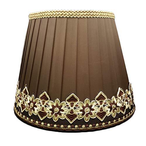 Plisowany abażur z tkaniny, antyodblaskowy abażur lampki nocnej do sypialni, gniazdo lampy E27 DIY lampa stołowa abażur do lampy podłogowej, 35 CM