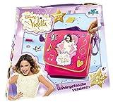 Totum 702004 - Disney Violetta Bastel Set, Umhängetasche zum selbst Gestalten und Verzieren für Kinder -