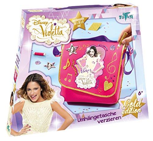 Totum 702004 - Disney Violetta Bastel Set, Umhängetasche zum selbst Gestalten und Verzieren für...