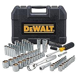 powerful 84 DEWALT Mechanic Tool Set (DWMT81531)