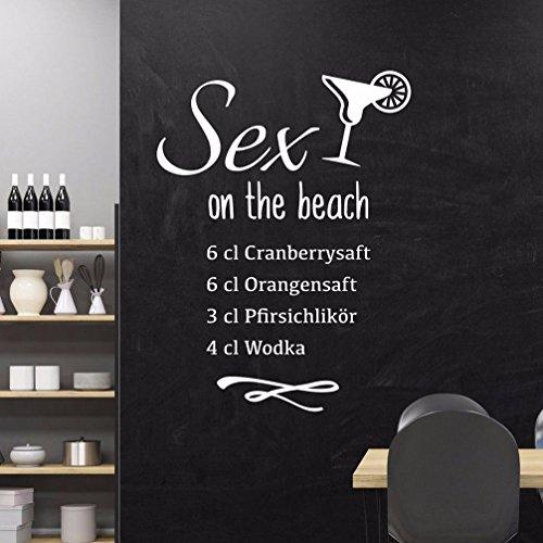 tjapalo® S-pkm201 Wandtattoo Küche Rezepte Cocktail Sex on the Beach Wandbanner Wandsticker Banner (Höhe 120 x Breite 58)