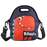 Violet Mist Insulated Neoprene Lunch Bag Tote with Detachable Adjustable Shoulder Thermal Waterproof Cartoon Large Capacity Outdoor Picnic Lunch Box for Kids Teens Adults (Dinosaur3) lunch bags teens Oct, 2020