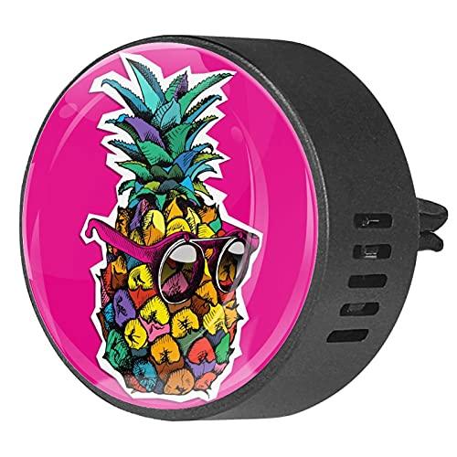2 paquetes de difusor de coche con ambientadores de clip,Gafas de sol de frutas de fruta rosa ,Aceite esencial de aromaterapia portátil para dormitorio