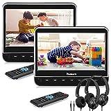 NAVISKAUTO 2 10,1' DVD Player Auto HDMI Eingang HD 1080P DVD Player Tragbar Kopfstütz Monitor mit Kopfhörer 1024*600 Memory SD USB bis 128GB AV In/Out 12V