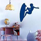 Tianpengyuanshuai Vinyl Aufkleber Sport Surfbrett Surf Wandaufkleber Wave Sports Kinderzimmer Home Decoration Wandbild 117X120cm