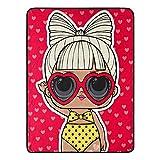 LOL Surprise, 'Yellow Polka Dot Bikini' Micro Raschel Throw Blanket, 46' x 60', Multi Color