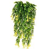 XHXSTORE 3pcs Verde Edera Finta Cadente da Interno Esterno Edera Rampicante Artificiale con Fiori Finti di Gloria MattutinaPianta Cadente Artificiale per Ufficio Casa Balconi