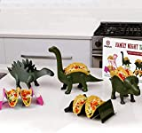 Family 5 Pack Dinosaur Taco Holder Set - Taco Fun For the Parents And Kids. Includes a Stegosaurus, Triceratops, Brachiosaurus Brontosaurus, and 2 Wave Taco Holders Great Family Value Pack!