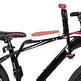 LUKUCEA Asiento para NiñOs En La Parte Delantera de La Bicicleta Pedal Delantero Asiento Infantil Coche eléctrico Asiento de bebé,Rojo