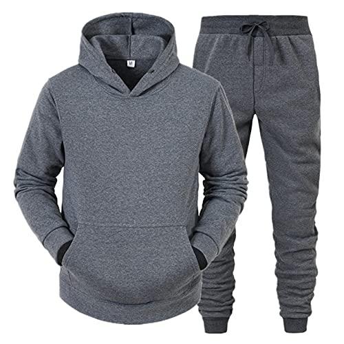 Dasongff - Chándal para hombre, chándal deportivo para fitness, sudadera, ropa de calle, tracksuit con capucha, pantalones deportivos, ropa deportiva con capucha, ajuste cómodo, chándal, modelo