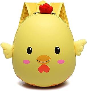 Kids 3D Chick School Bags Animal Cartoon Eva Backpack for Kindergarte Children Girls Hard Shell Backpacks Boy(Yellow)