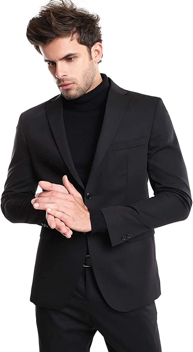 LOB Man Blazer Suit Slim fit Lapels in Front Pockets and Piping Pocket.