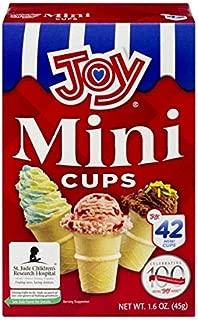 Joy Mini Cups Miniature Ice Cream Cones For Kids, Desserts, Cupcake Cones, Cake Pops 42 Count (1 Box/42 cones)
