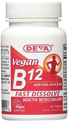 Deva Vegan Vitamins Sublingual B-12, 90 Tab by Deva Nutrition